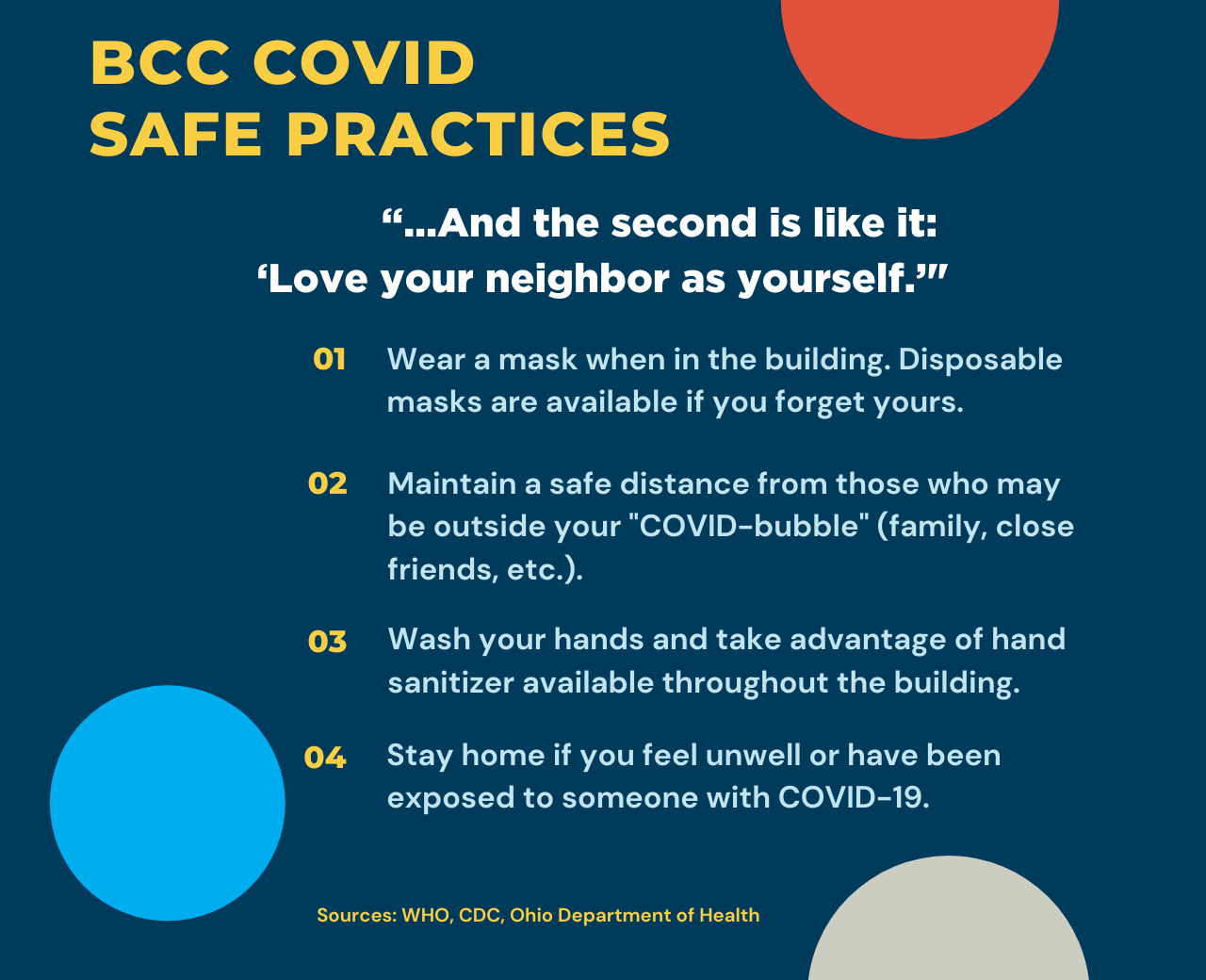 BCC COVID Safe Practices