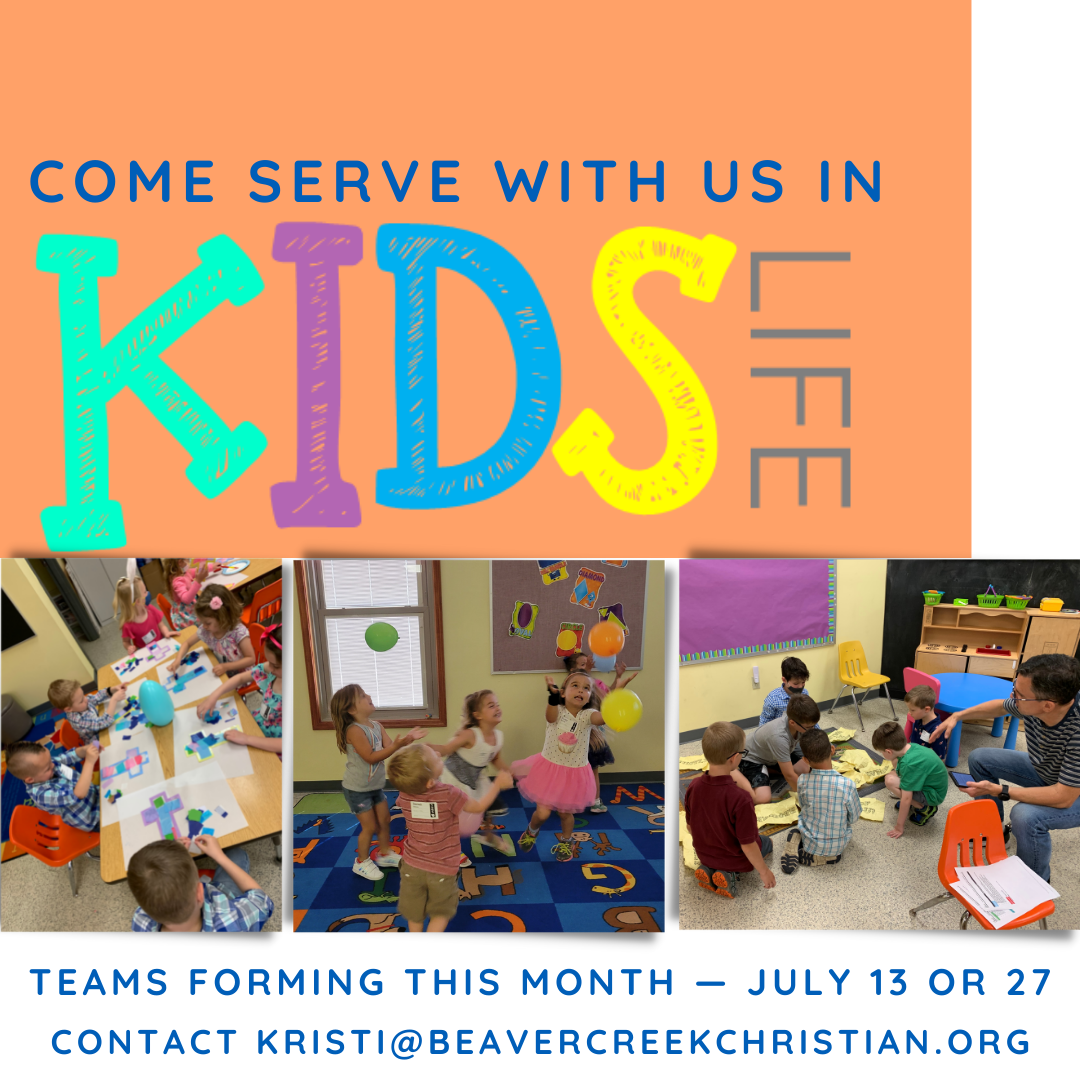 Servants Needed! – Come serve with us